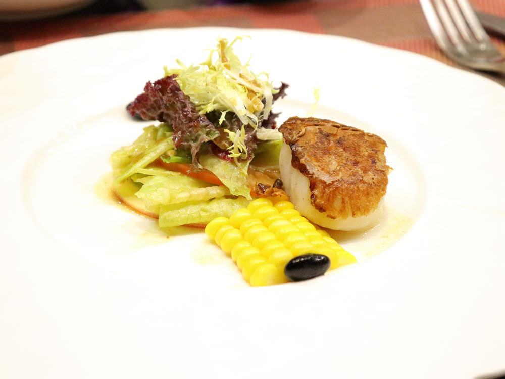 干貝與蔬菜