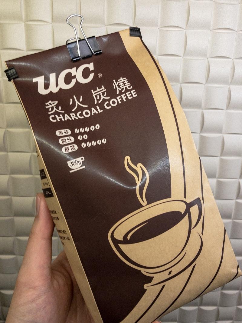 """UCC炙火炭燒咖啡豆品飲分享,""""賣場的咖啡豆也不錯""""系列。"""